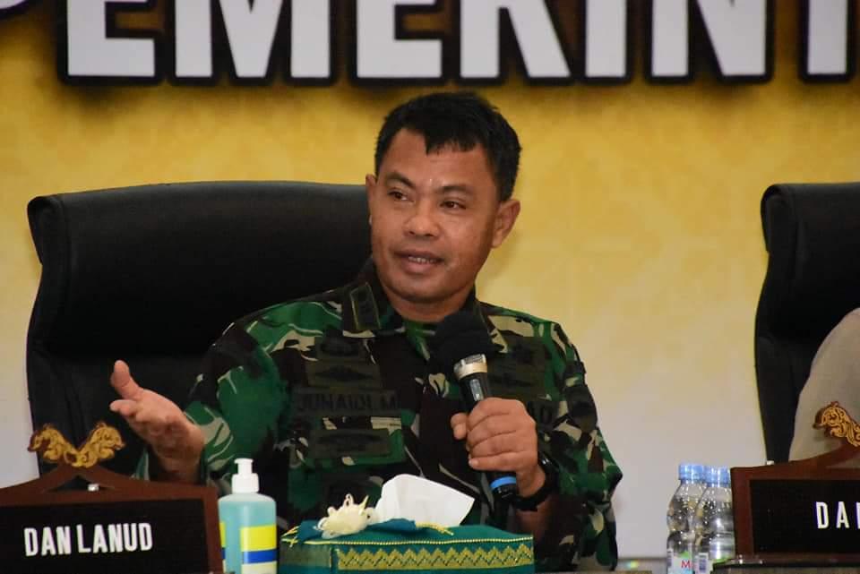 Kasrem 031/WB Dukung Arahan Gubernur agar Kabupaten Kota Segera Realisasi anggaran COVID-19