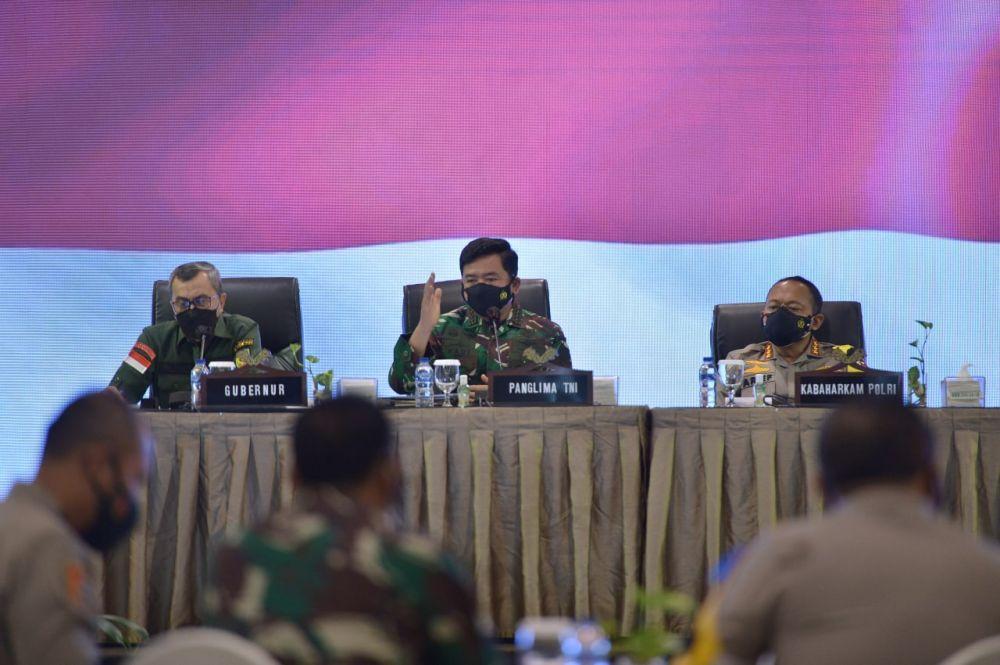 Kasus Covid-19 di Riau Terus Menurun, Panglima TNI Apresiasi Kinerja Gubernur Riau dan Forkopimda