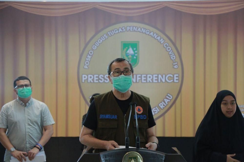Kasus Positif Covid-19 di Riau Tambah 8 Orang dan 10 Pasien Sembuh