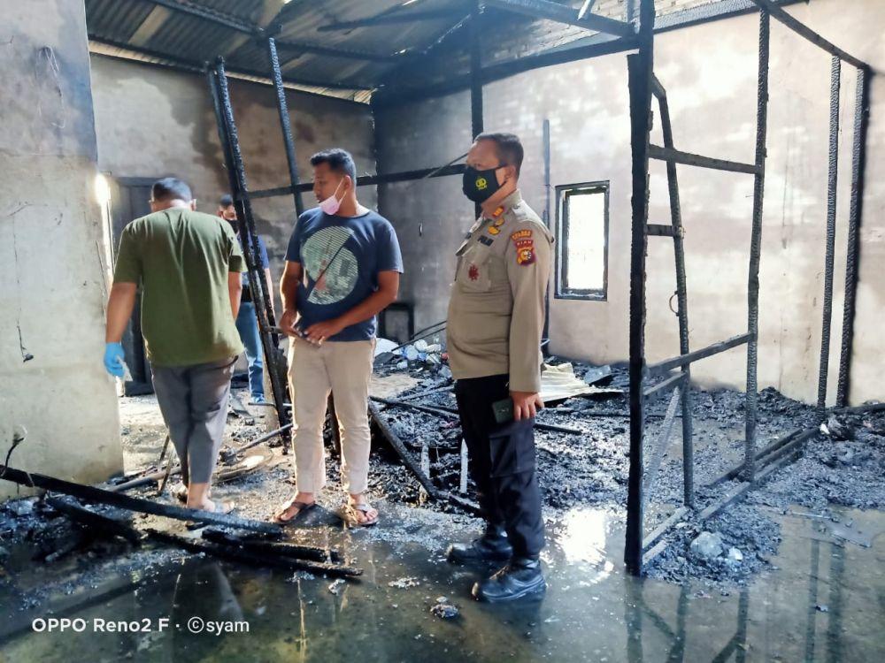 Kebakaran di Pelalawan Hanguskan 2 Rumah Petak 1 Korban Jiwa