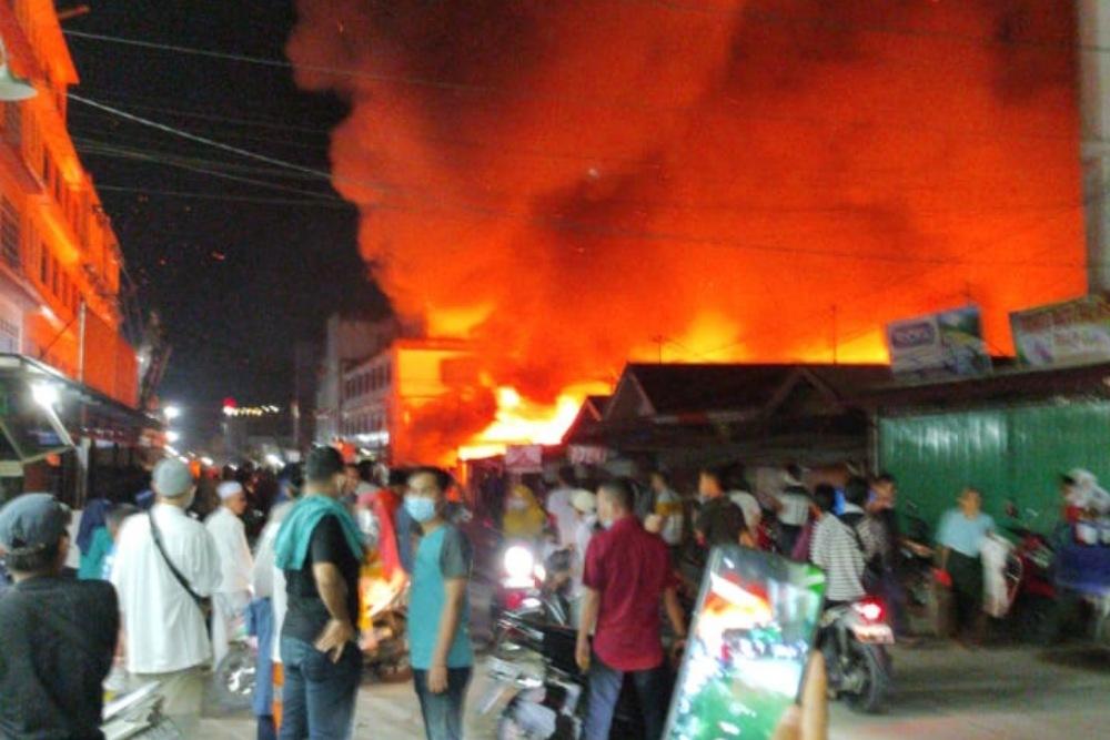 Kebakaran Wisma di Inhil, Kerugian Materil Rp400 juta, Korban Jiwa 6 orang