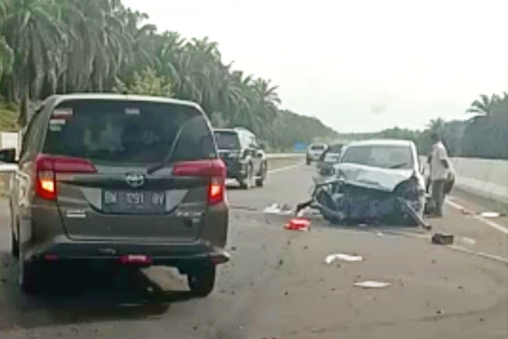 Kecelakaan Tunggal di Tol Pekanbaru - Dumai, Pengemudi Dihimbau Lebih Berhati-hati