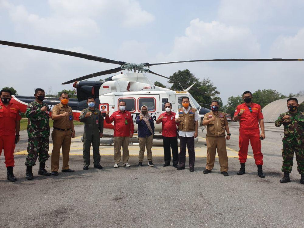 KLHK Beri Dukungan Untuk Operasi udara Pengendalian Kebakaran Hutan dan Lahan di Riau