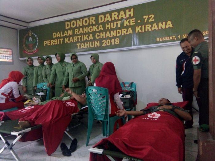 Kodim 0302/Inhu Gelar Donor Darah