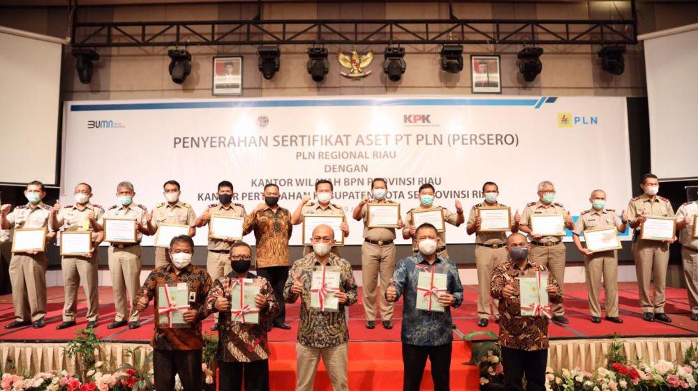 KPK, PT PLN, ATR/BPN kembali Berhasil Amankan Aset Tanah senilai 110,7 Miliar