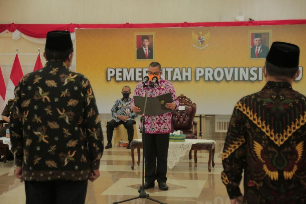Kukuhkan Pengurus FKUB Provinsi Riau, Wagubri Ajak Sosialisasikan Protokol Kesehatan
