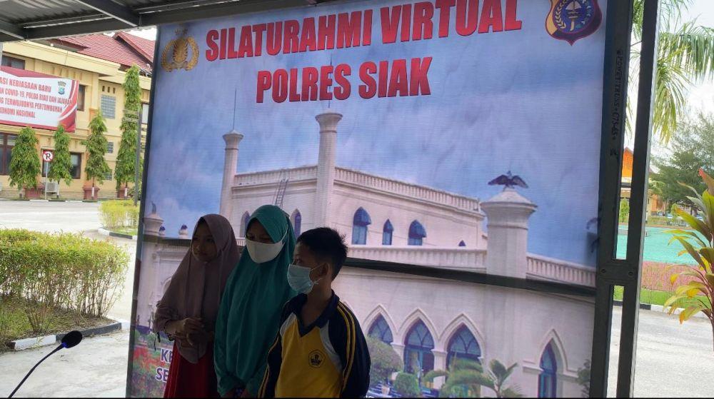 Larangan Mudik, Polres Siak Siapkan Sarana Untuk Masyarakat Yang Ingin Bersilaturahmi Virtual