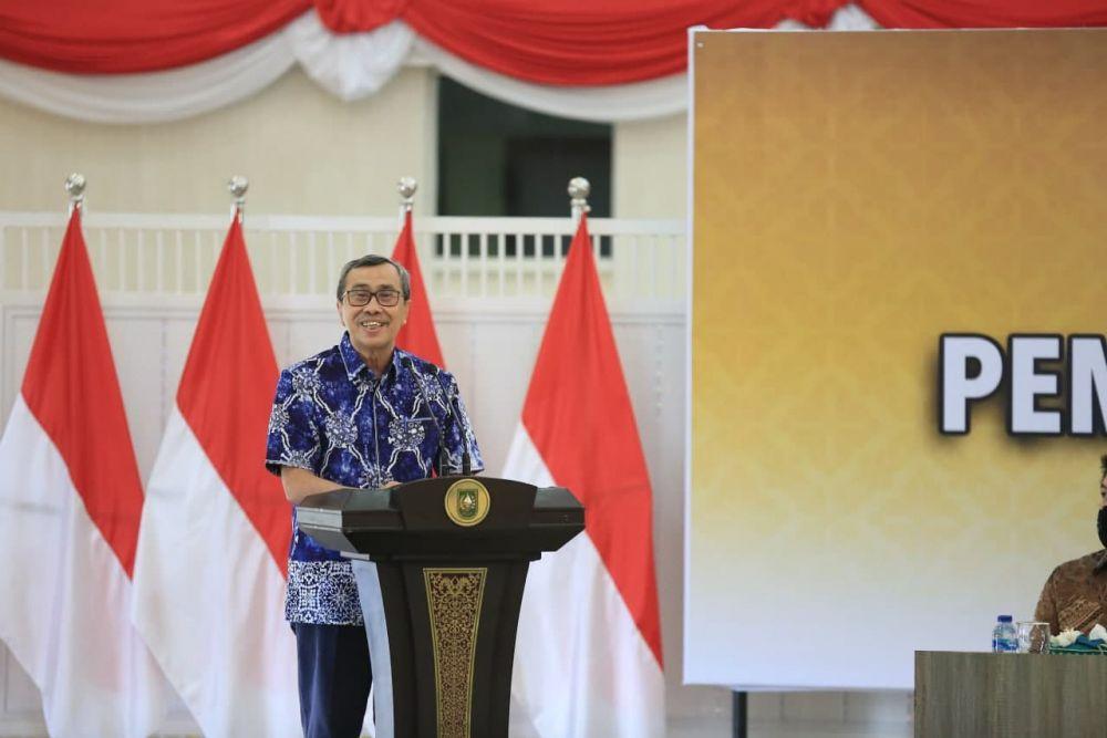 Launching Penerapan Belanja Langsung Pemprov Riau, Gubri: Semoga Bermanfaat Bagi Kemajuan Ekonomi