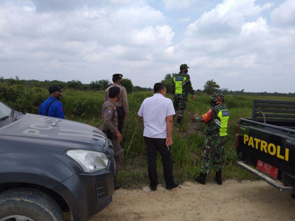 Maksimalkan Pencegahan Karhutla, Polsek Kotogasib Bersama Satgas Kecamatan Tingkatkan Patroli
