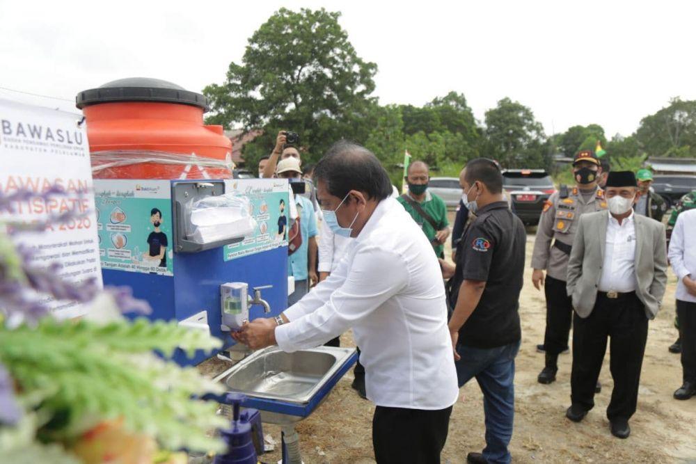Mayoritas TPS di Pelalawan Sudah Jalankan Protokol Kesehatan