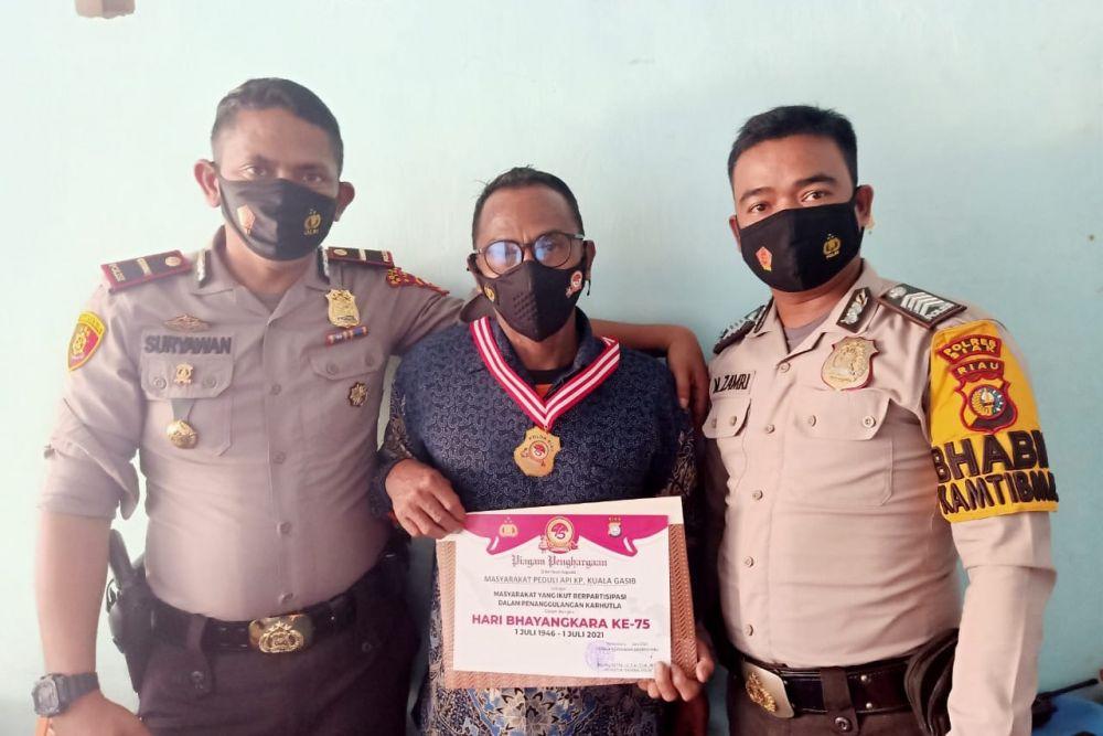 MPA Kuala Gasib Siak Raih Penghargaan dari Kapolda