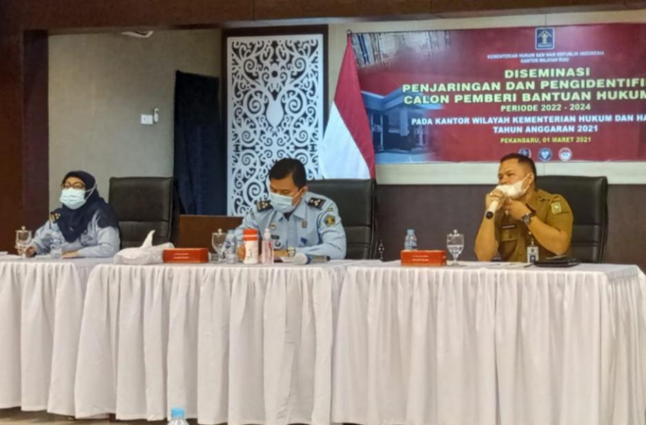 Pemprov Riau Beri Bantuan Hukum Bagi Warga Kurang Mampu