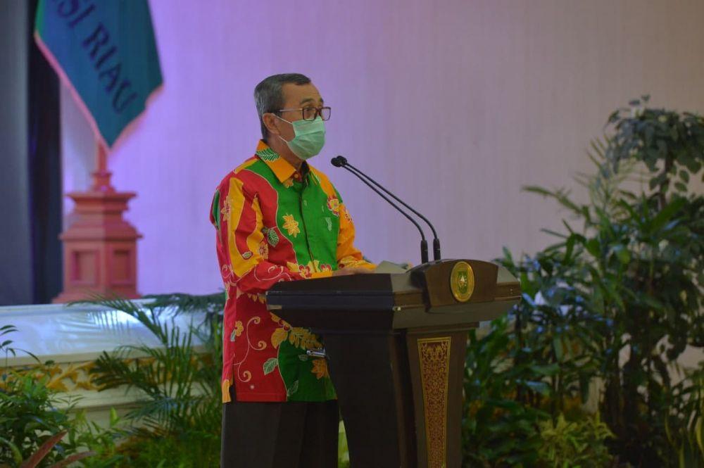 Pemprov Riau Gelar Pisah Sambut Dengan Kajati Riau