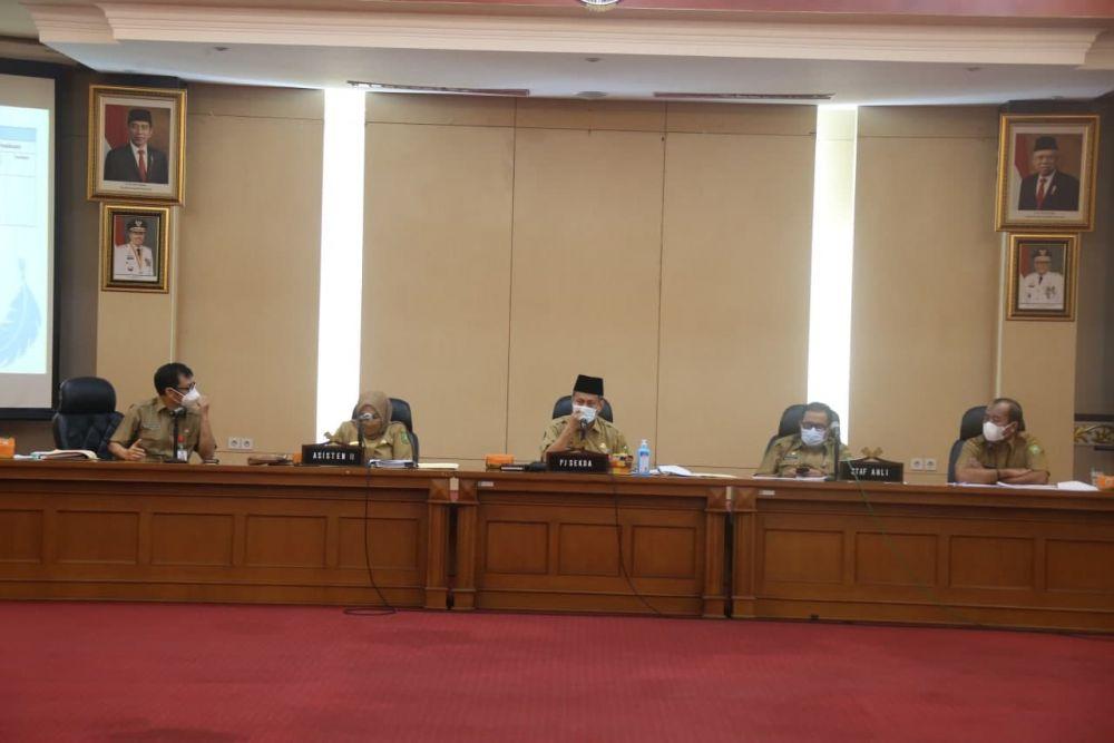 Pemprov Riau Gelar Rapat Evaluasi Pelaksanaan Kegiatan APBD Riau Tahun 2021