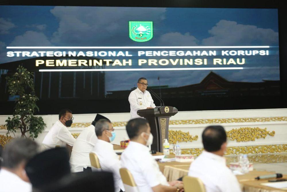 Pemprov Riau Peroleh Nilai 89,11 Persen Stranas PK Tahun 2020