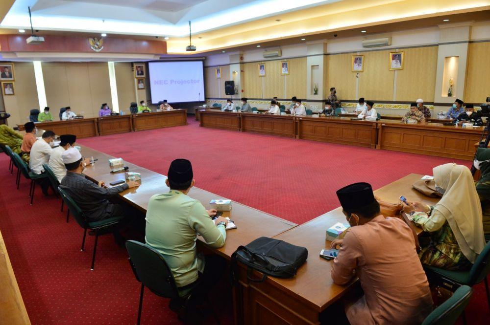 Pemprov Riau Sepakat Pengiriman Peserta STQ Tingkat Nasional Tahun 2021 Dilakukan Penunjukan Langsung