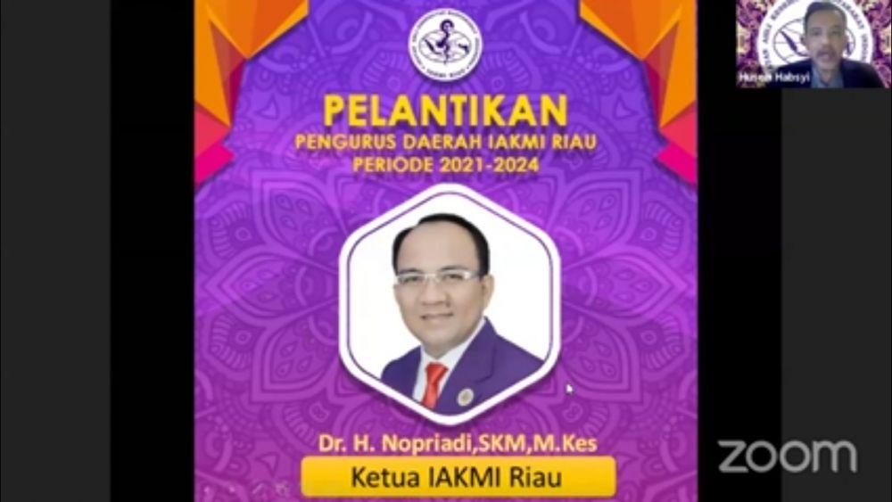 Pengurus IAKMI Riau Periode 2021-2024 Dikukuhkan