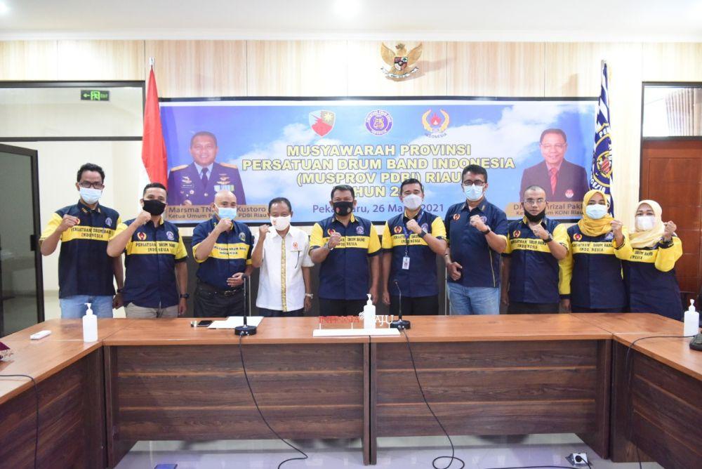 Pimpin PDBI, Danlanud RSN Tetap Konsisten Perkuat Drum Band Riau