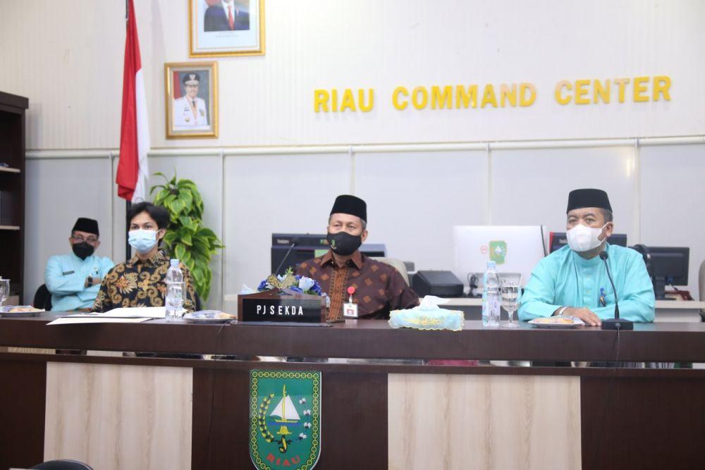 Pj Sekdaprov Riau Hadiri Pertemuan 18th IMT-GT 2021 Secara Virtual