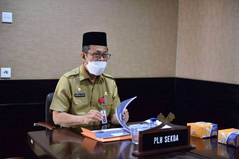 Plh Sekdaprov Riau Hadiri Rakor Penanganan Darurat Bencana Asap Akibat Karhutla Tahun 2021