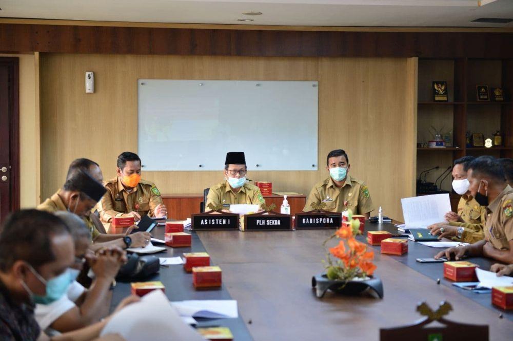 Plh Sekdaprov Riau Pimpin Rakor Kegiatan Pasukan Paskibra 2021
