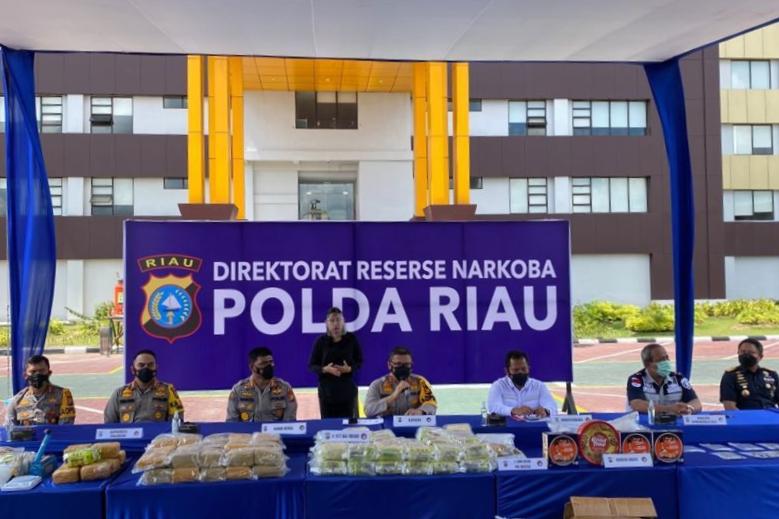 Polda, Bea Cukai, Kemenkumham Riau Sita 117 Kg Sabu, 1.000 Pil Ekstasi