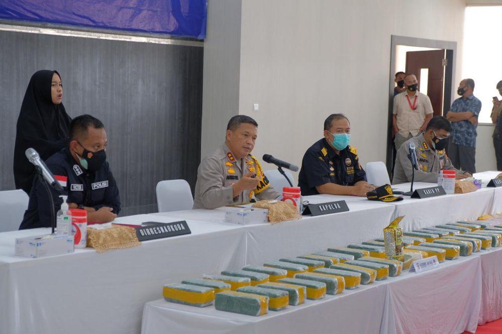 Polda Riau Gagalkan 40 Kilogram Sabu, 50 Ribu Butir Ekstasi Masuk Riau