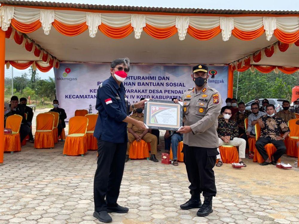 Polres dan DLH Rohul Dukung Penyelamatan Lingkungan di Lapangan Minyak Pendalian