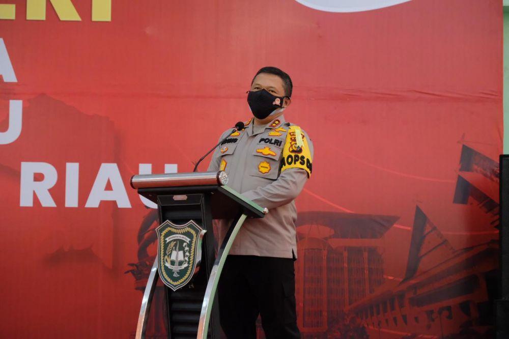 Polri Peduli Negeri Gelar Vaksinasi Mahasiswa di Universitas Islam Riau