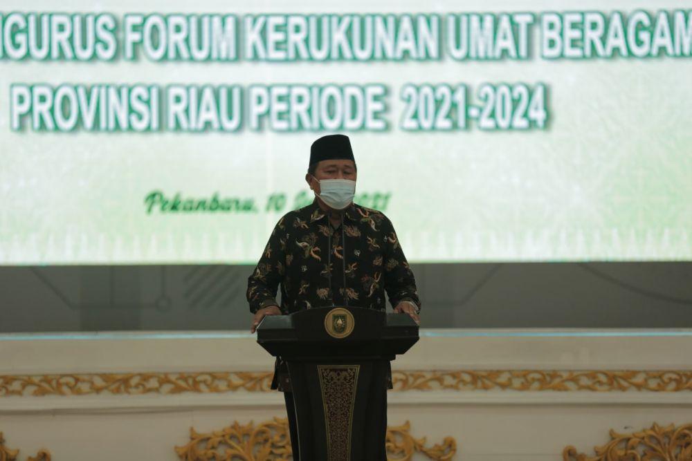 Rajut Kebersamaan Antar Umat Beragama, Pengurus FKUB Riau Datangi Tokoh Lintas Agama di Riau
