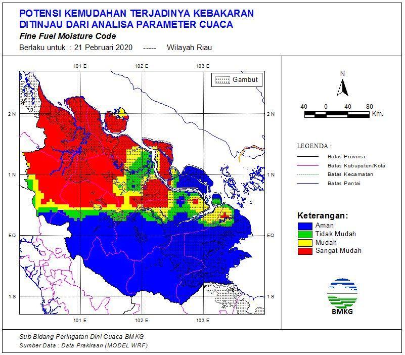 Riau Berpotensi Diguyur Hujan Ringan