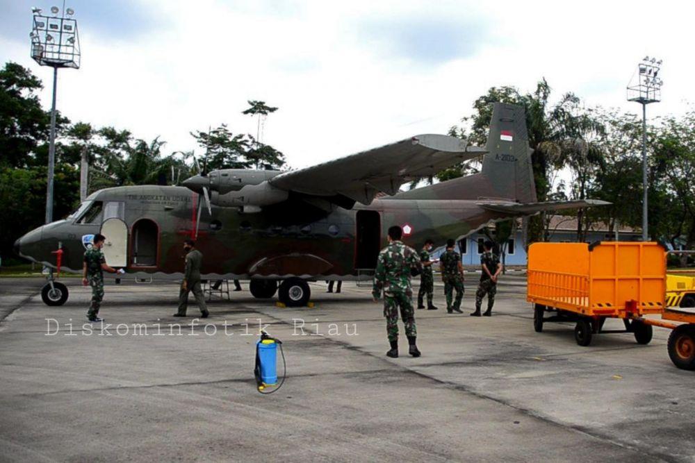 Riau Usulkan Perpanjangan Kontrak Pesawat Modifikasi Cuaca