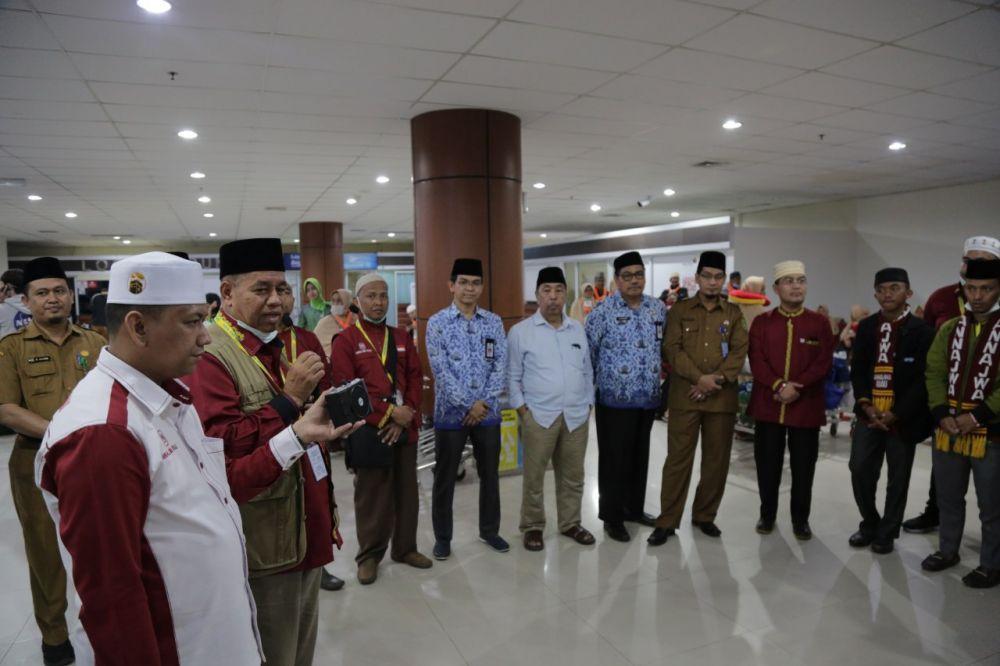 Rombongan Pemenang MTQ Tingkat Provinsi Riau kembali ke Tanah Air