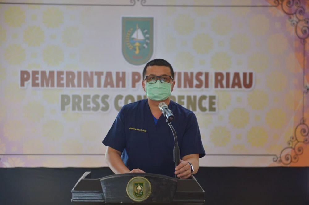 Sampaikan Update Covid-19 Riau, dr Indra Yovi: Testing Berjalan Dengan Baik