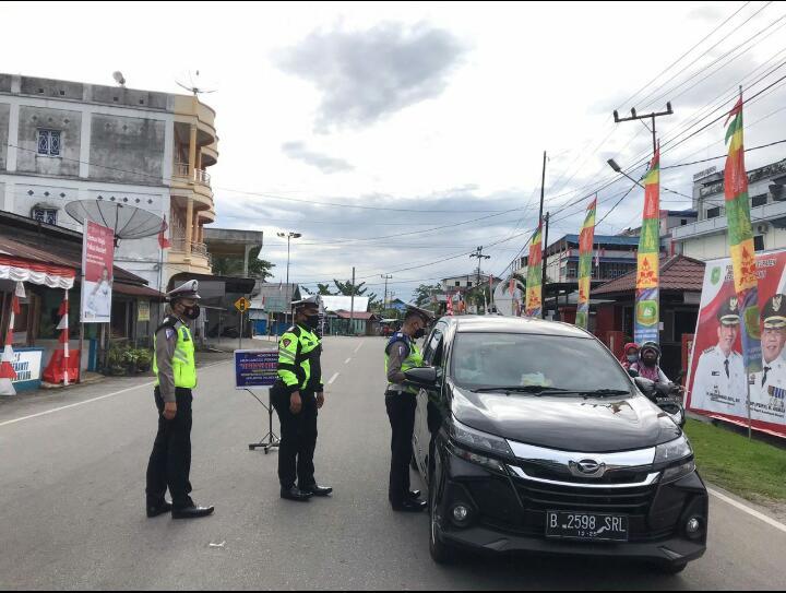 Satlantas Polres Meranti Tertibkan Pengendara Tak Pakai Masker