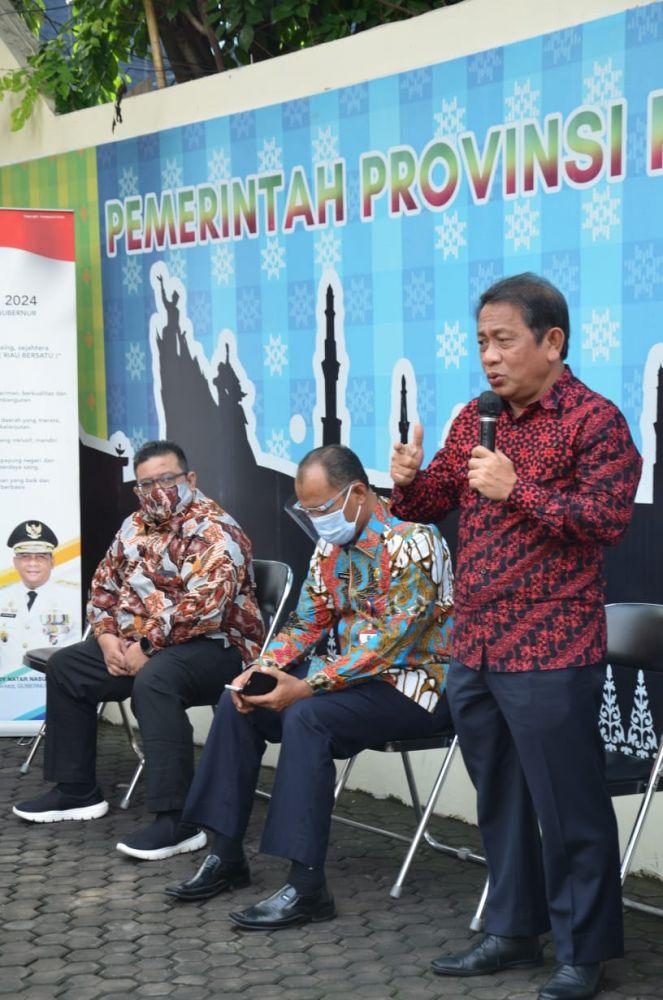 Sekdaprov Riau Apresiasi Bazar UMKM di Penghubung Riau Jakarta