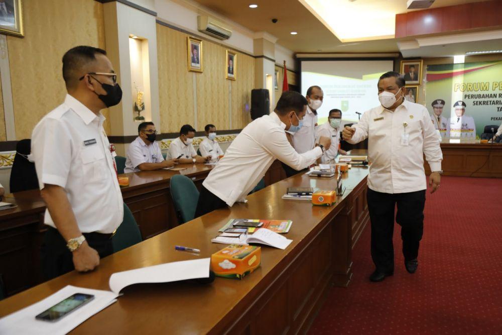 Sekdaprov Riau: Forum Perangkat Daerah untuk Pertajam Target Sasaran Kerja