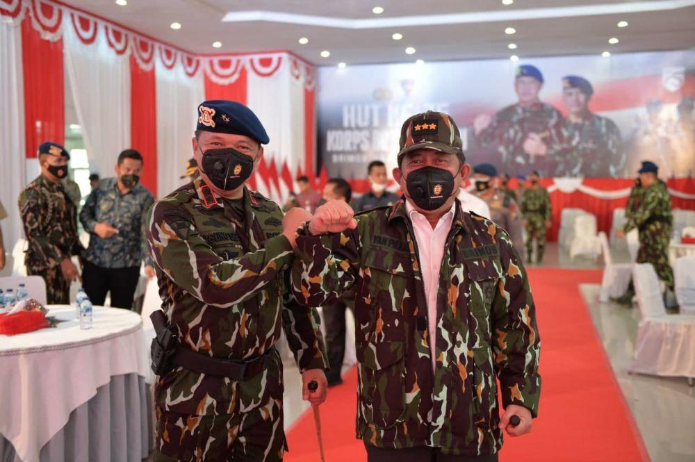 Sekdaprov Riau Hadiri Syukuran HUT Ke-75 Korps Brimob Polri