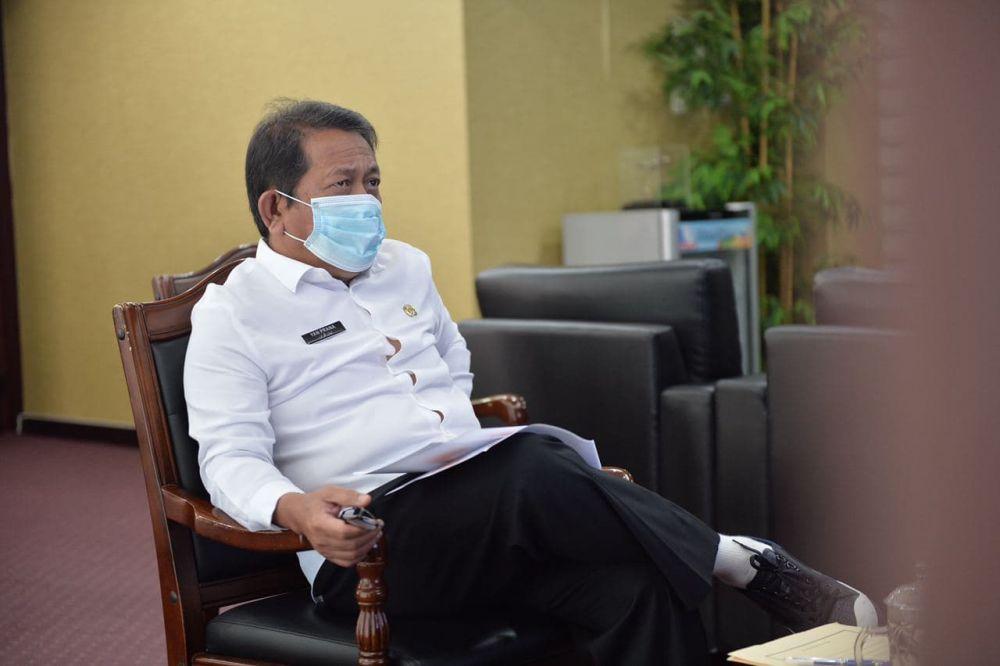 Sekdaprov Riau Ikuti FDG Participating Interest 10% Secara Virtual