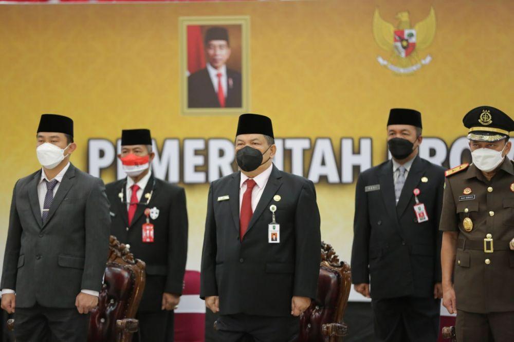 Sekdaprov Riau Mengikuti Upacara Peringatan Hari Kesaktian Pancasila Secara Virtual