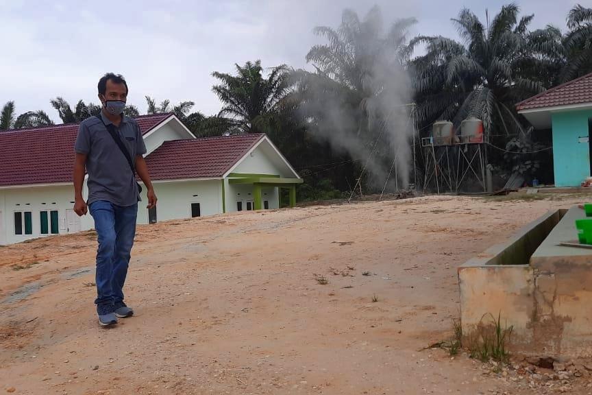 Mediacenter Riau Go Id Semburan Gas Di Ponpes Al Ihsan Dinas Esdm Riau Dan Emp Turunkan Tim Ke Lokasi