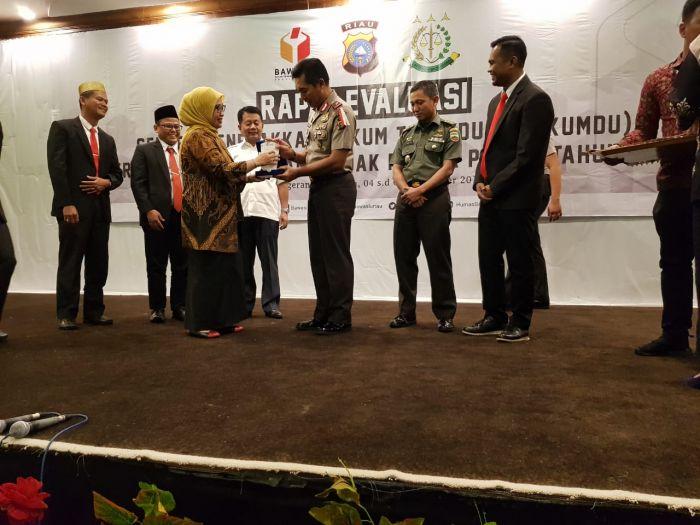 Sentra Gakkumdu Inhu Terbaik Riau pada Penanganan Tindak Pidana Pemilu 2019
