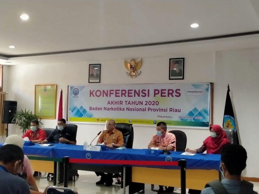Sepanjang 2020, BNNP Riau Berhasil Sita 74 Kilogram Sabu