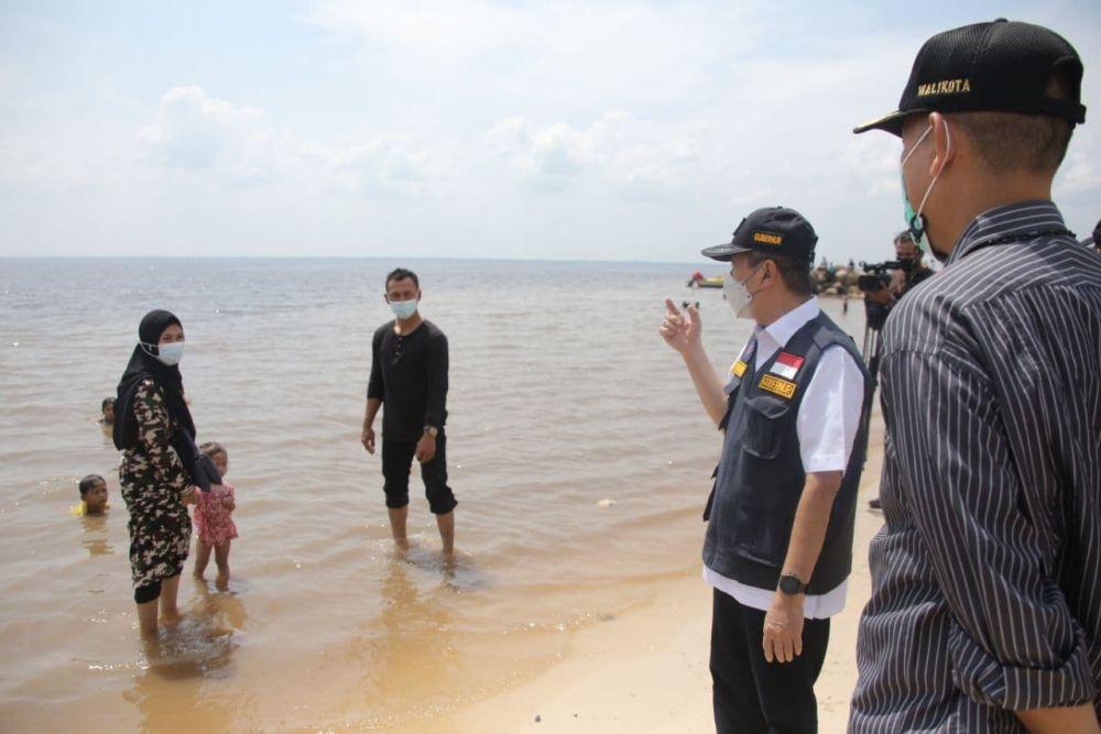 Sidak Objek Wisata di Dumai, Gubri Minta Wisata Ditutup Kembali