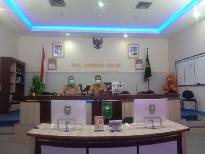 Staf Ahli dan Kadisnakertrans Riau Hadiri Launching Unit Layanan Disabilitas Bidang Ketenagakerjaan Secara Virtual