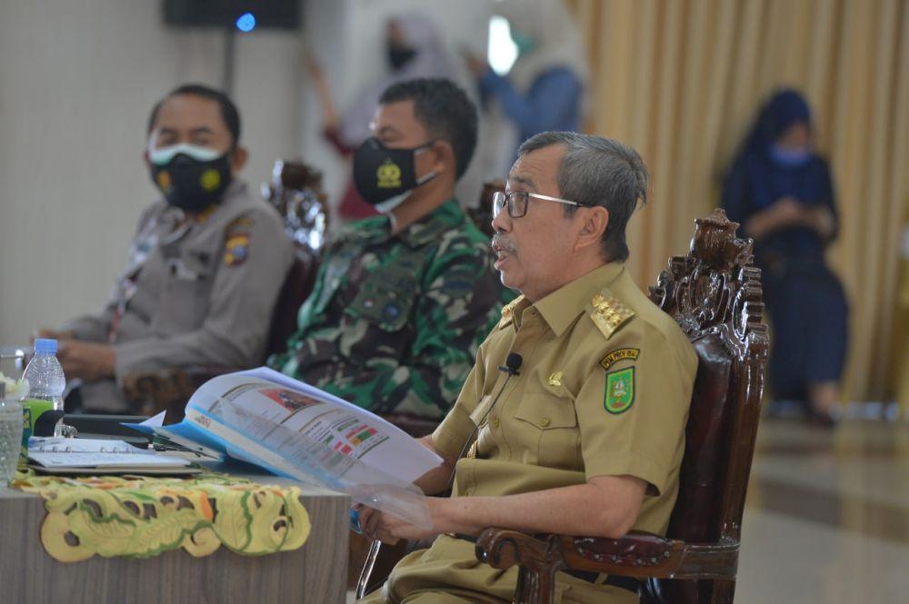 Status Siaga Ditetapkan, Gubri: Ditengah Pandemi, Riau Juga Dihadapkan dengan Ancaman Karhutla