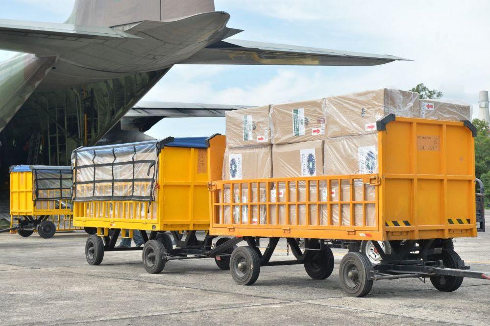 Tancap Gas, 100 Oxygen Concentrator bantuan Presiden tiba di Pekanbaru