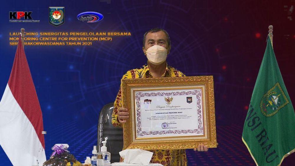 Tepat Waktu Selesaikan Tindak Lanjut Hasil Pengawasan, Riau Terima Penghargaan