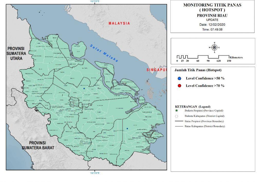 Terdeteksi Dua Titik Panas di Kecamatan Sungai Mandau dan Gaung