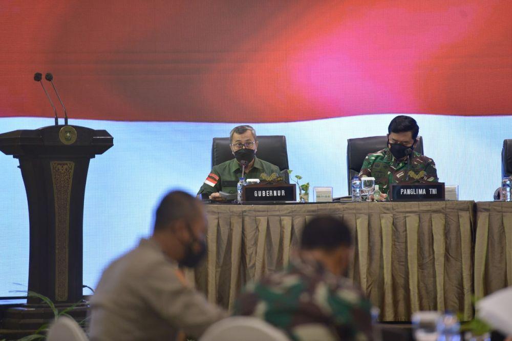 Terima Kunker Panglima TNI, Gubri Sampaikan Capaian Vaksinasi di Riau